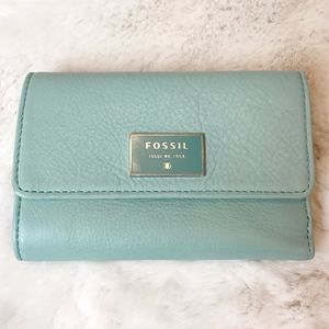 Fossil | Dawson Leather Wallet in Sea Glass